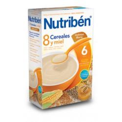 Nutriben 8 cereales y miel galletas María 600g +6meses