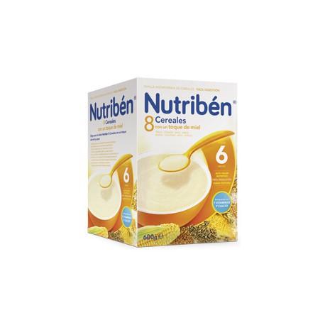 Nutriben 600g 8 cereales con un toque de miel +6meses