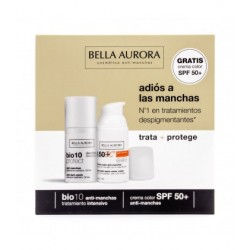 Bella Aurora Bio10 Protect Anti-Manchas 30 ml + Crema Solar Color Spf50+ 30 ml