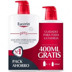 Eucerin Family Pack pH5 Skin-Protection Loción Enriquecida 1l + 400ml