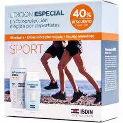 Fotoprotector ISDIN Pack Sport fusion gel SPF50+100ml + fusion water SPF50+50ml