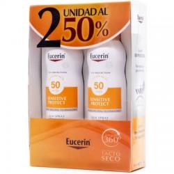 Pack Duplo Eucerin Spray Solar Transparente Dry Touch SPF50+ 200ml