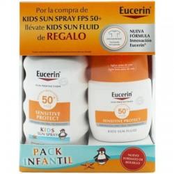 Pack Eucerin Sun Kids Spray SPF50 200ml + Fluido SPF50 50ml de Regalo