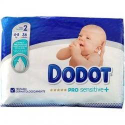 Pañales Dodot Pro Sensitive plus  Talla 2 Hasta 4-8 Kg 36Uds