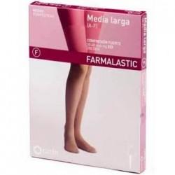 Farmalastic media larga blonda (A-F) compresión fuerte T-Extra Grande 1 Pierna