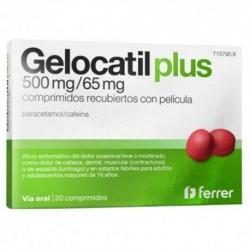 GELOCATIL PLUS 500 MG/65 MG COMPRIMIDOS RECUBIERTOS CON PELICULA, 20 comprimidos