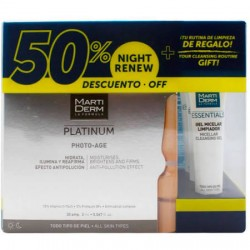 Martiderm Platinium Photo Age 30 Ampollas + 10 amp. x 2ml Night Renew Todo Tipo De Piel + Essentials Rutina De Limpieza