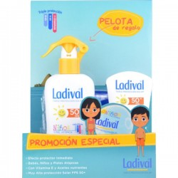 Ladival Pack Niños SPF50 Spray 200ml + Ladival SPF50 Leche Pieles Atópicas 50ml