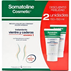 Somatoline Cosmetic Vientre y Caderas Advance 1 Duplo 2x150ml