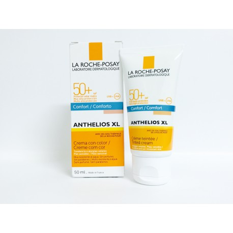 ANTHELIOS XL FPS 50+ CREMA FUNDENTE CON COLOR CONFORT PROTECCIÓN FACIAL MUY ALTA CON COLOR. ULTRA UVA