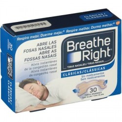 Breathe Right tiras nasales color carne talla grande 30 uds