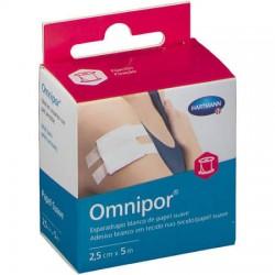 Omnipor esparadrapo papel blanco suave 2,5cm x 5m
