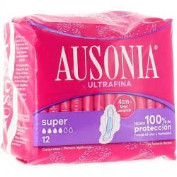 Ausonia Compresas Alas Super 12Uds