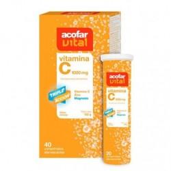 Acofarvital Vitamina C 1000 mg 40 Comprimidos Efervescente