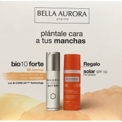 Bella Aurora Bio10 Forte Tratamiento Despigmentante  M-lasma 30 ml + Crema Solar Anti-Manchas Spf50+ 50 ml