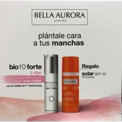 Bella Aurora Bio10 Forte Tratamiento Despigmentante  L-tigo 30 ml + Crema Solar Anti-Manchas Spf50+ 50 ml