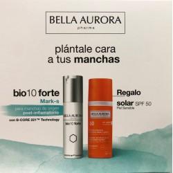 Bella Aurora Bio10 Forte Tratamiento Despigmentante  Mark-s  30 ml + Crema Solar Anti-Manchas Spf50+ 50 ml