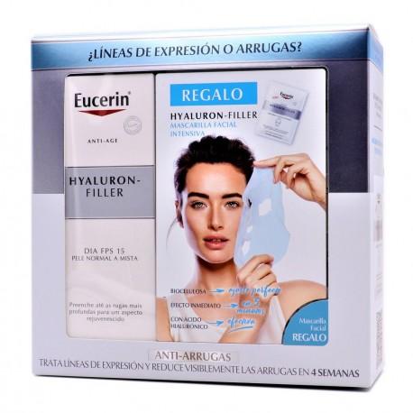 Eucerin Hyaluron Filler Crema de Día Piel Normal y Mixta + Mascarilla Facial Intensiva Pack