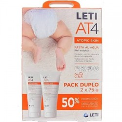 LetiAt4 Crema Pañal Pasta Al Agua Duplo 75 + 75 G