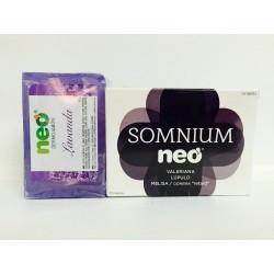"Somnium Neo Valeriana , Lúpulo , Melisa , Cidreira ""retard"" 30capsulas + Dermojabon Lavanda"