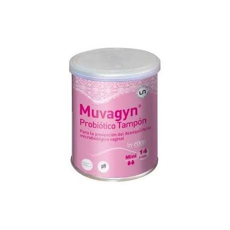 Muvagyn Tampon Probiotico Mini Aplicador 9 Unidades