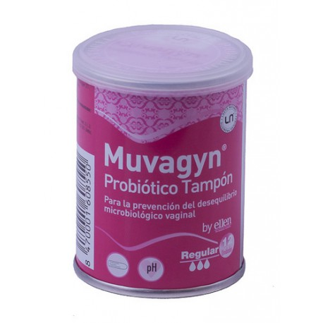 MUVAGYN PROBIOTICO TAMPON REGULAR 12UDS