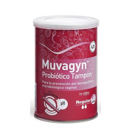 Muvagyn Tampon Probiotico Regular Aplicador 9 Unidades