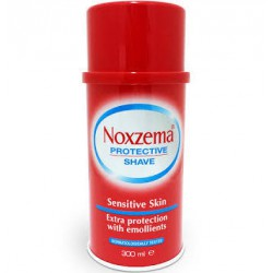 Noxzema Espuma De Afeitar Roja Piel Sensible 300Ml