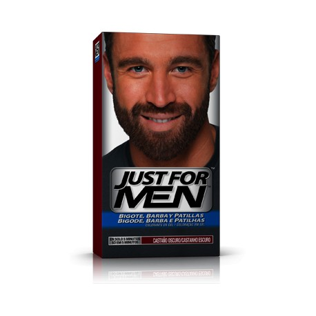 JUST FOR MEN BIGOTE BARBA CASTAÑO OSCURO GEL 1 KIT